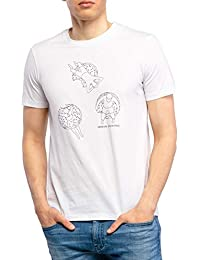 A|X Armani Exchange Men's Floaty Print Crewneck Short Sleeve Graphic Tee