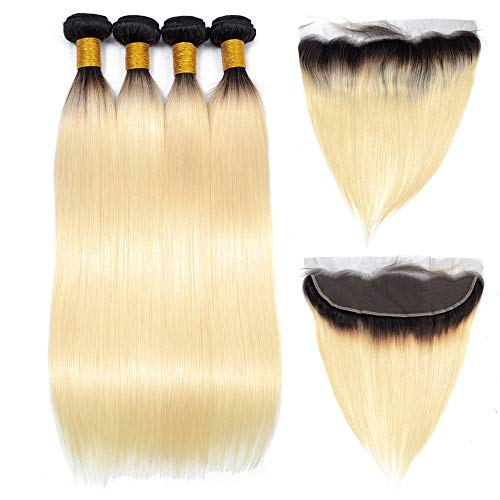 Ombre-1b-613-Human-Hair-Bundles-with-134-Lace-Frontal-Closure-Dark-Roots-Blonde-Brazilian-Straight-Hair-Weave-12-12-1210
