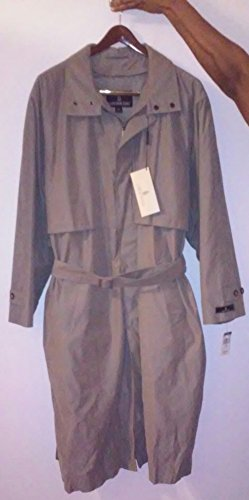 london-fog-men-single-breasted-micro-trench-coat-size-42-long