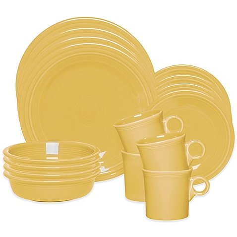 Fiesta 16-Piece Dinnerware Set in Sunflower by Wedding Registry Favorite