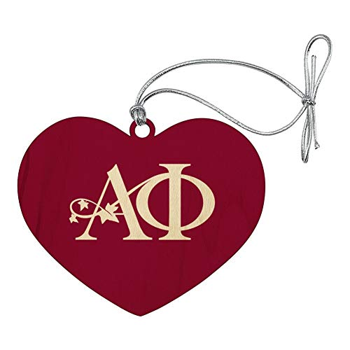 GRAPHICS & MORE Alpha Phi International Women's Fraternity Sorority Logo Heart Love Wood Christmas Tree Holiday Ornament