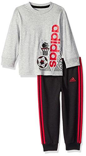 adidas Baby Boys Long Sleeve Tee Pant Set