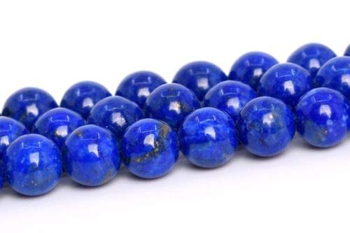 "5mm Genuine Natural Light Blue Lapis Lazuli Afghanistan Around Beads 15.5"" Crafting Key Chain Bracelet Necklace Jewelry Accessories Pendants -"