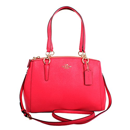 Coach Crossgrain Leather Small Christie Carryall F57520 Bright Pink (Coach Purse Outlet)