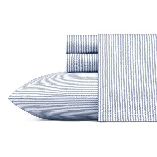 Poppy & Fritz Oxford Stripe Sheet Set Queen Blue