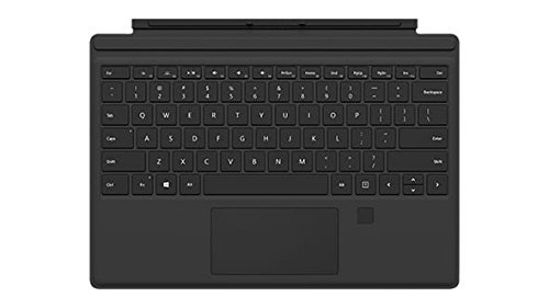 Microsoft Surface Pro Type Cover with Fingerprint ID (Black) (Renewed)