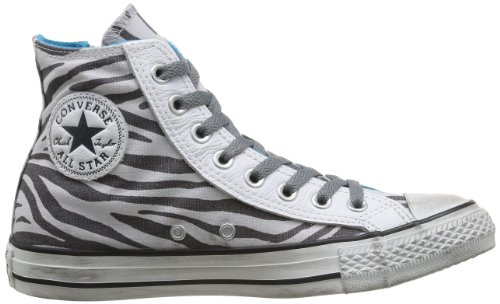 Converse All Star Hi Side Zip Canvas - Zapatillas, unisex Oyster Gray/Castlerock Zebra D