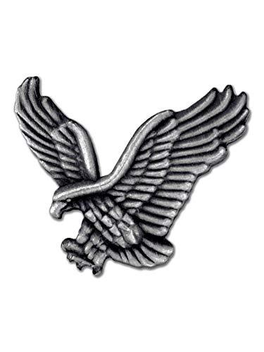 PinMart Soaring American Eagle Hawk 3D Antique Silver Patriotic Lapel Pin