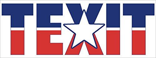 TEXIT Bumper Sticker (texas secede flag texan tx exit) - Exit Flag