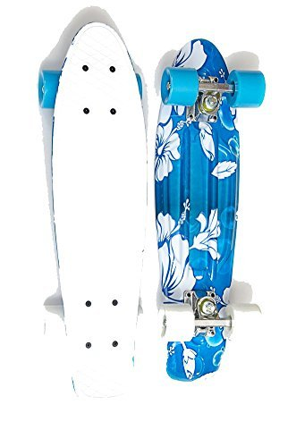 MoBoard Vintage Style Classic 27'' Skateboard, Aloha Flower by MoBoard