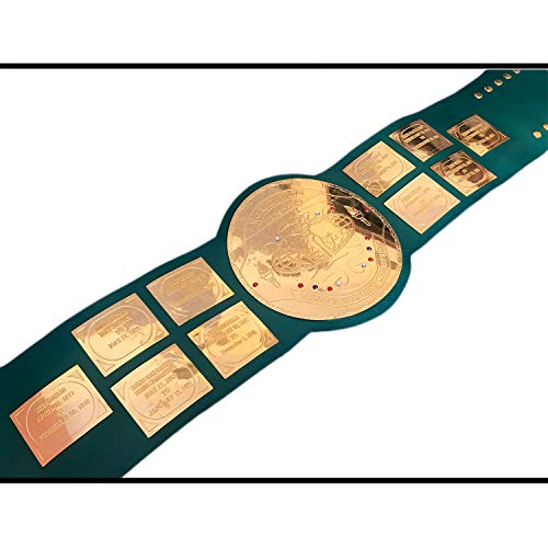 Vitalusa WWF/WWE Big Green Hulk Hogans 84s Wrestling Championship Belt Adult Size Replica Title Belt