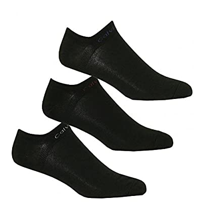 Calvin Klein Mens 3 Pair Coolmax Liner Socks - Black