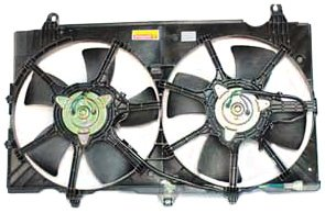 TYC 621810 Nissan 350Z Replacement Radiator/Condenser Cooling Fan Assembly ()