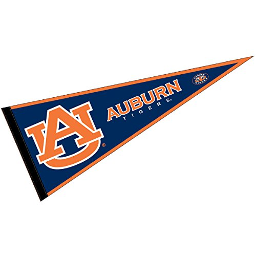 (College Flags and Banners Co. Auburn Tigers Pennant Full Size Felt)