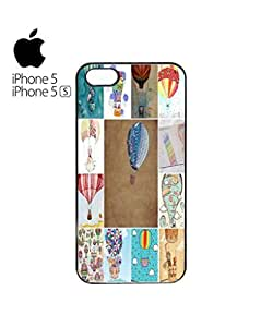 Balloon Fun Holiday Cell Phone Case Cover iPhone 5&5s Black