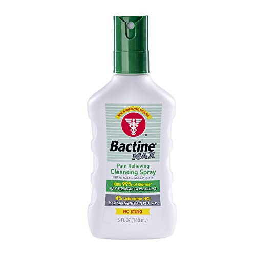 Bactine Max Pain Relieving Cleansing Spray 5 oz