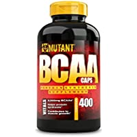 MUTANT BCAA Capsules - Branched Chain Amino Acid Supplement, Supports Muscle Growth and Recovery, Complete BCAA Formula, 100% Free Form BCAAs In Ultra-Fast Absorption Capsule, 400 Count