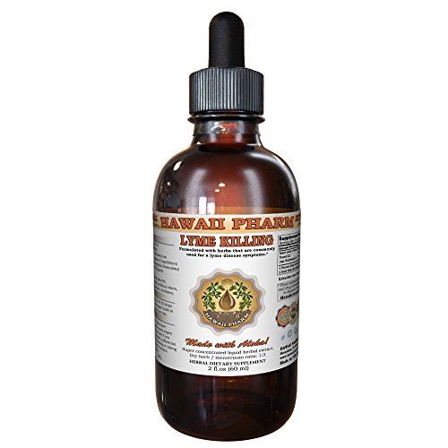 Lyme Killing Tincture, Natural Herbal Liquid Extract, Made in USA, Hawaii Pharm trusted brand, Herbal Supplement, 2 oz
