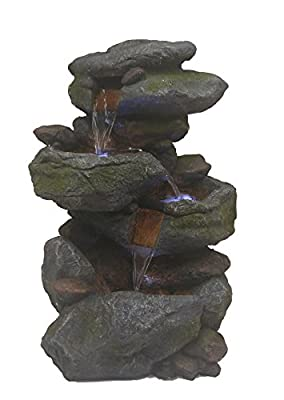 Major-Q Decoration Feng shui Rock Like Waterfall Fountain with LED Light