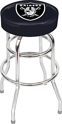 - Imperial Officially Licensed NFL Furniture: Swivel Seat Bar Stool, Oakland Raiders
