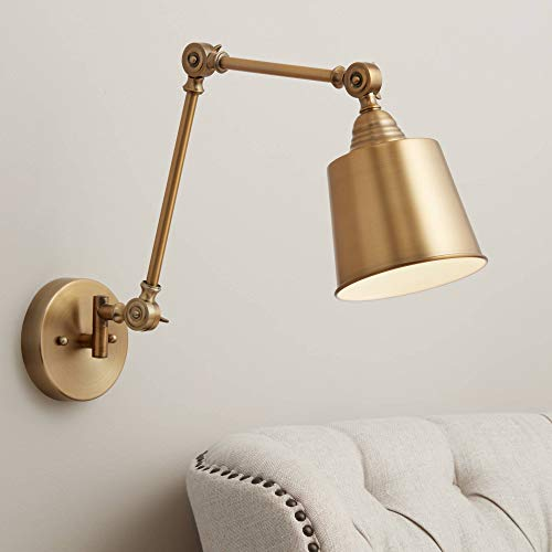 Mendes Antique Brass Down-Light Hardwire Wall Lamp - 360 Lighting