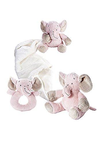Juguetes de animales de peluche elefante rosa de beb/é ni/ña doudou y sonajero set de regalo para beb/é reci/én nacido