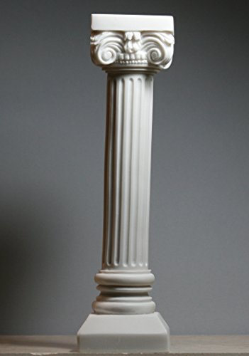 [Greek Modern Ionic Order Column Pillar Pedestal Capital Alabaster Sculpture 10.4΄΄] (Ionic Column)
