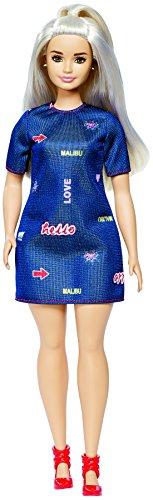 Barbie Fashionistas #63 Platinum Pop Doll, Curvy