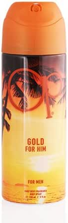 Ocean Pacific Body Spray for Men, Gold, 5 Fluid Ounce