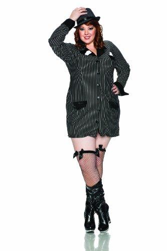 - Delicious Allie Capone Costume, Black/White, 2X