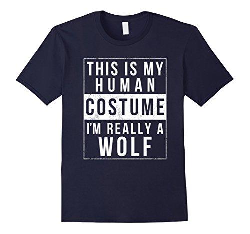 Mens Wolf Halloween Costume Shirt Funny Easy for Kids Men Women 2XL (Wolf Halloween Costume Diy)