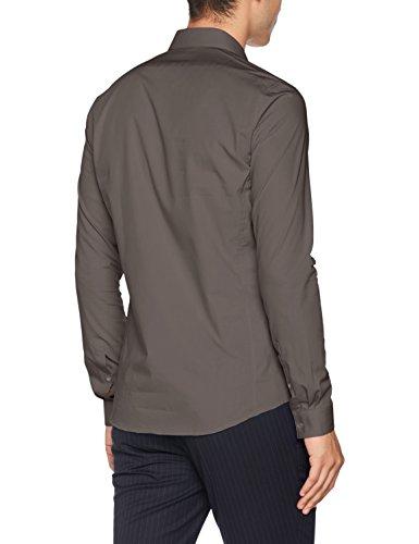Hombre Gris Venice Slim Oficina De Klein Fit Extra Calvin Camisa charcoal Ftc Para vAawq5P