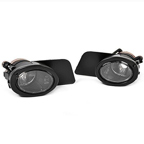 BMW E39 01-03 M5 Style Clear Bumper Fog Lights Lamps + Covers