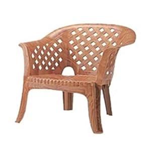 Nilkamal Solocane Plastic Chair (Brown)