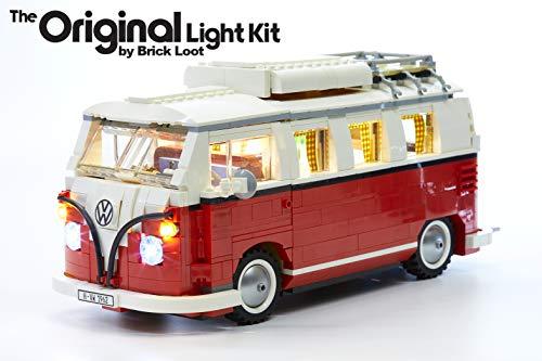 벽돌 전리품 디럭스 LED 라이트 키트 당신의 레고 폭스 바겐 T1 캠핑 밴 세트 10220(참고:모델 포함되지 않습니다)