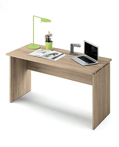 Abitti Escritorio Mesa de Ordenador Multimedia Color Cambrian para despacho, Oficina o Estudio, Grosor 22MM. 120cm Ancho x 76cm Altura x 68cm Fondo