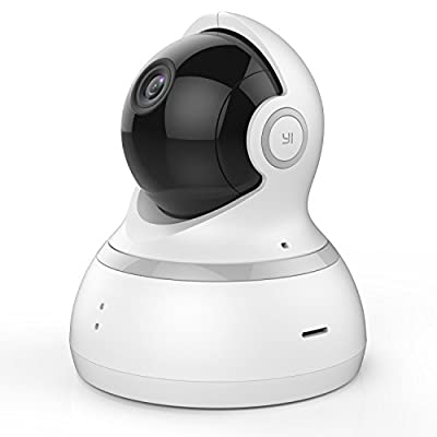 YI Dome Camera 1080p HD Pan/Tilt/Zoom Wireless IP Security Surveillance System Night Vision White(US Edition) by YI Technology