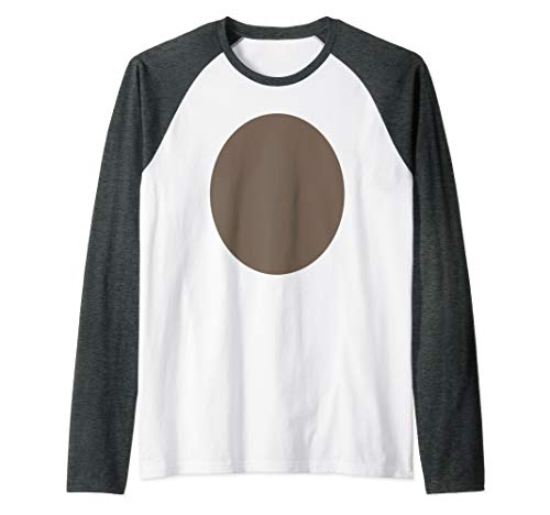 Brown Fur Bear Monkey Reindeer Belly DIY Halloween Costume Raglan Baseball Tee
