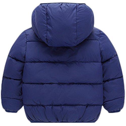 ESHOO Niños Invierno Gruesa de Lana de Algodón Abrigo Chaqueta con capucha  Chaqueta de nieve Cierre 6f2aaa9c8ed