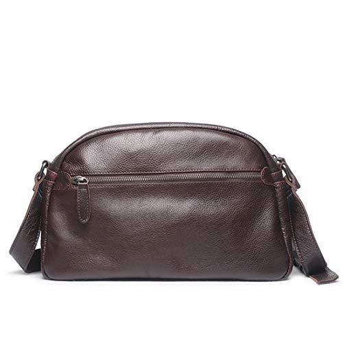 Baachang Bag Color Messenger Zipper Coffee Mens Colore colore Retro Leather H1wHr6q
