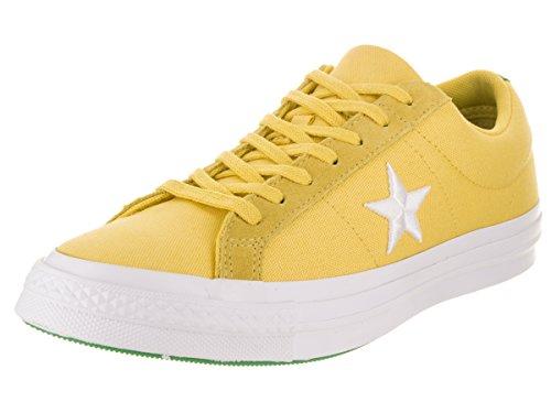 Converse Unisex One Star Ox Desert Gold/White/Green Casual Shoe 10 Men US/12 Women (Yellow Converse Shoes)