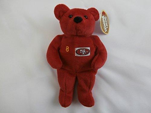 "Steve Young 8 San Francisco 49ers Salvino's Bammers 6"" Plush Bear Stuffed Animal by Salvino"