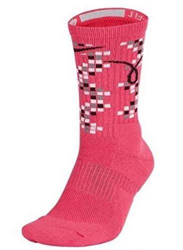 Nike Men's Elite Kay Yow Basketball Crew Size XL Vivid Pink/White/Black