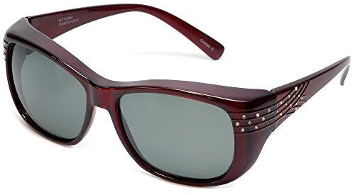 Haven Fitover Sunglasses Victoria in Wine Crystal & Polarized Grey - Haven Fits Sunglasses Over