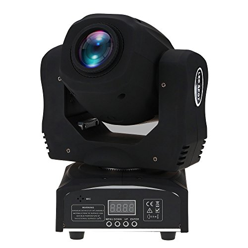 Docooler 60W LED 8 Gobos 8 Colors Moving Head Stage Effect Light RGBW 9/11 Channel Auto-run DMX512 Sound-activated Master-slave for DJ Club Show Disco Party Bar Lighting by Docooler