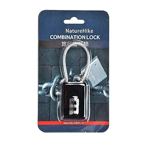 1Buy Mini Cerradura de contraseña de candado de combinación de 3 dígitos portátil, Mochila gabinete Maleta Equipaje pequeña contraseña de Bloqueo: ...