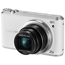 """Samsung WB350F 16.2MP CMOS Smart WiFi & NFC Digital Camera with 21x Optical Zoom and 3.0"""" Touch Screen LCD and 1080p HD Video (White)"""