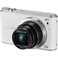 Samsung WB350F 16.3MP CMOS Smart WiFi & NFC Digital Camera with 21x Optical Zoom and 3.0 Touch Screen LCD and 1080p HD Video (White)