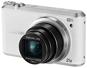 """Samsung WB350F 16.3MP CMOS Smart WiFi & NFC Digital Camera with 21x Optical Zoom and 3.0"""" Touch Screen LCD and 1080p HD Video (White)"""