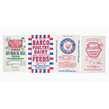 Feed Sack Dish Towels By Moda, Set of 4